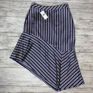 Banana Republic Striped Asymmetrical Skirt NWT